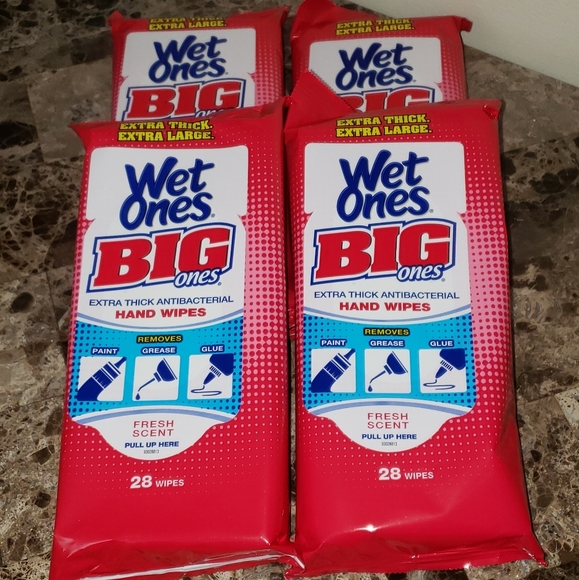 Wet Ones XL Wipes (4) Bundle